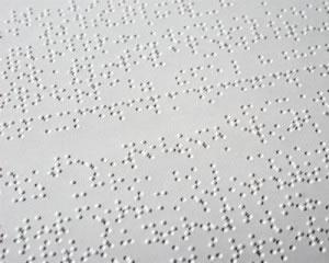 La lectura en braille