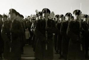 Ejército organizado en filas