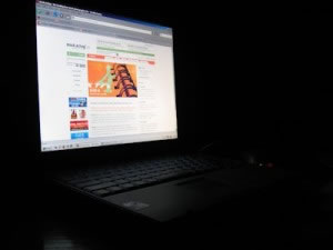 Navegador web en laptop