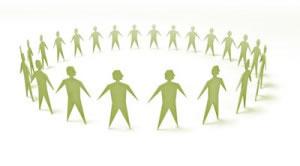 Gente organizada en círculo