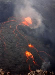 Una erupción volcánica