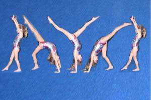 La gimnasia es una diciplina que pone en movimiento todo el cuerpo