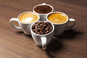 Tazas y variedades de café
