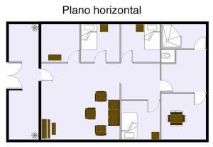 Planta plano horizontal