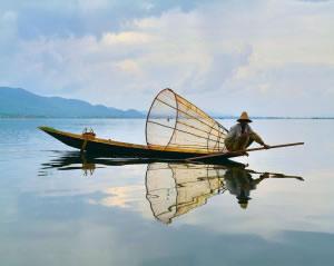 Pesca en lago