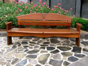 Banca de patio de madera