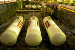 3 tanques de gas