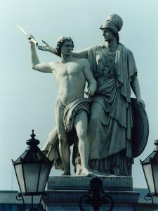 Escultura en piedra griega