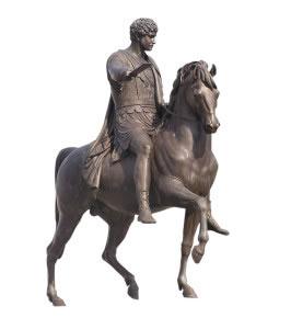 Estatua ecuestre en bronce