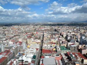 Toma aérea de la ciudad de México