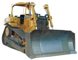 Maquina pesada para empujar tierra