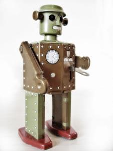 Robot de juguete antiguo