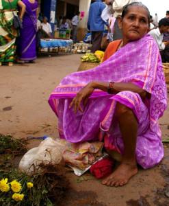 Vendedora en calle