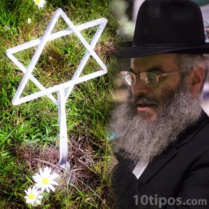 Estrella judía y judío ortodoxo
