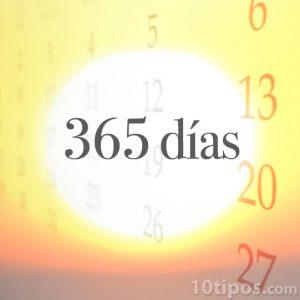 365 días es el calendario solar