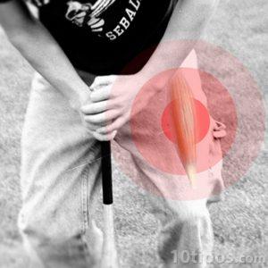 Lesión muscular en una pierna