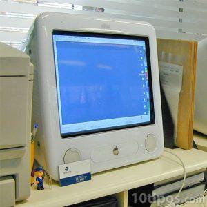 Computadora mac de color blanco