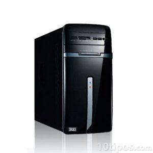 Computadora de torre color negro