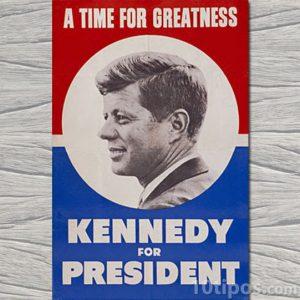 Cartel de la campaña para presidente Kennedy