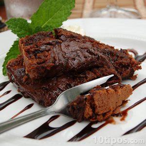 Postre de chocolate