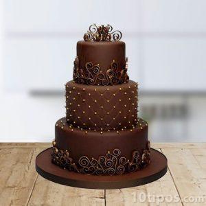 Pastel de fondant de chocolate