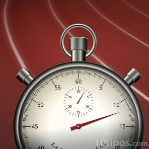 Pista de carreras con cronometro