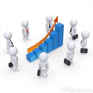 Empresarios observando las ganancias