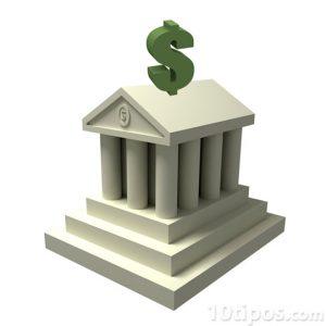 Banco con dinero