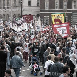 Manifestantes en la calle