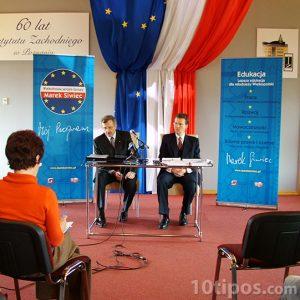 Entrevista en campaña política