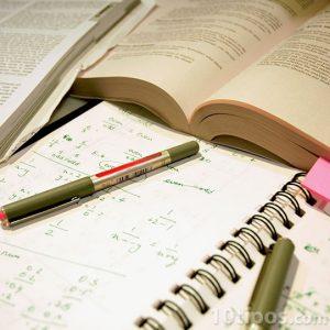 Cuaderno de estudio de matemáticas