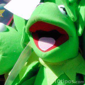 La rana rene es un títere de botón o muppet