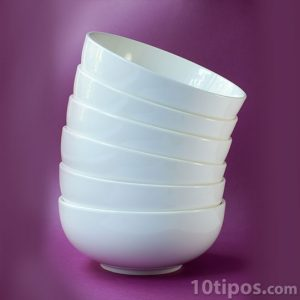 Platos para sopa de color blanco