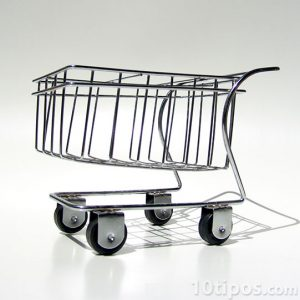 carrito de supermercado en miniatura