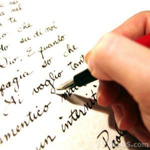 Carta escrita en manuscrita