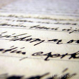 Detalle de carta escrita a mano