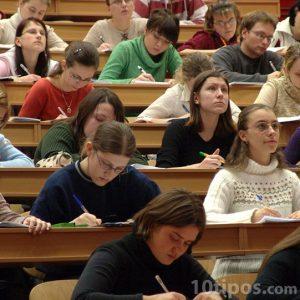 Estudiantes en clases