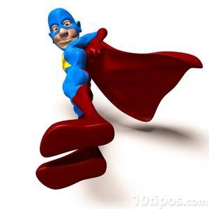 Super héroe usando su traje