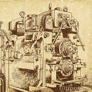 Dibujo de maquina hecho a mano