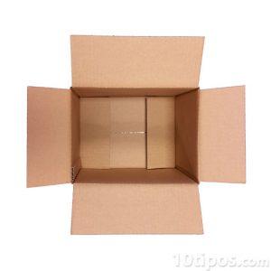 Caja de cartón abierta y vacía