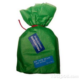 Bolsa de papel de color verde