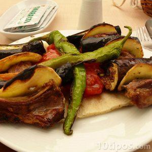 Verduras cocinadas a la plancha