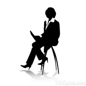 Silueta de entrevistadora
