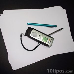 Objetos utilizados para una entrevista