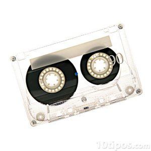 Cassette para música que utiliza electricidad