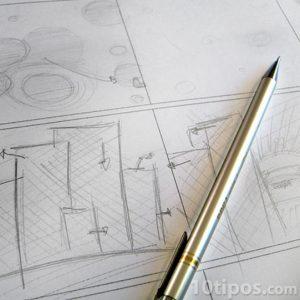 Secuencia de dibujos en papel