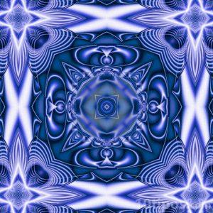 Caleidoscopio de color azul
