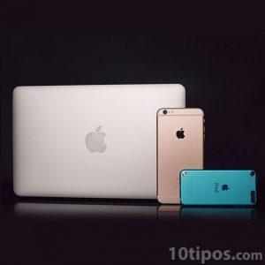 Diferentes tipos de dispositivos de la marca apple