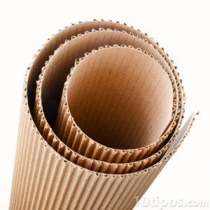 Cartón corrugado en forma de rollo