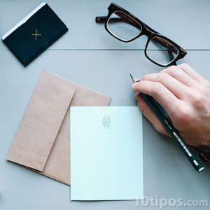 Escribiendo una carta